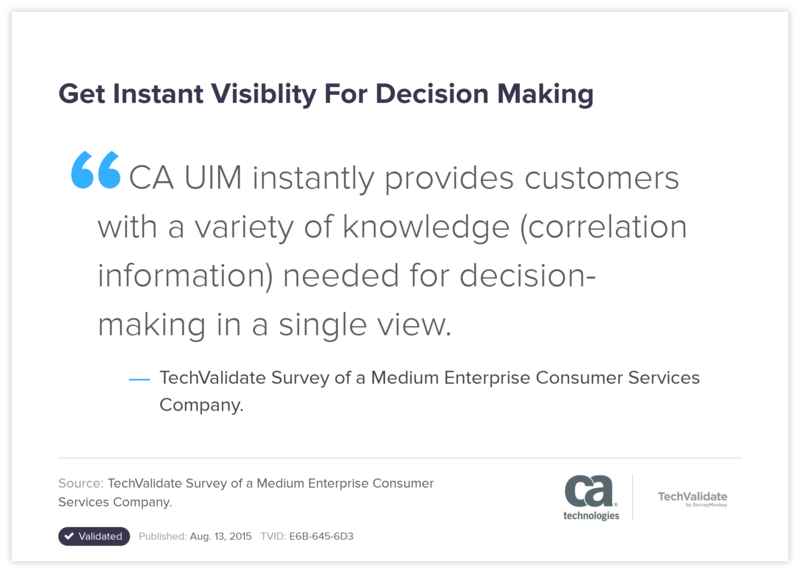 Get Instant Visiblity For Decision Making