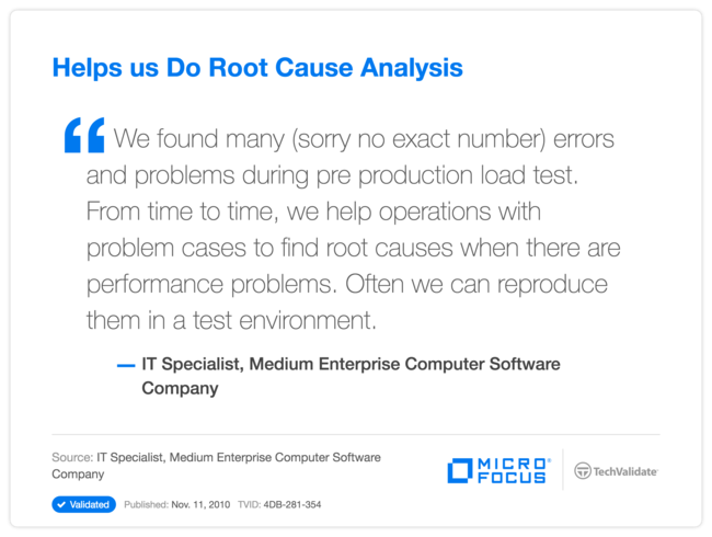 Helps us Do Root Cause Analysis