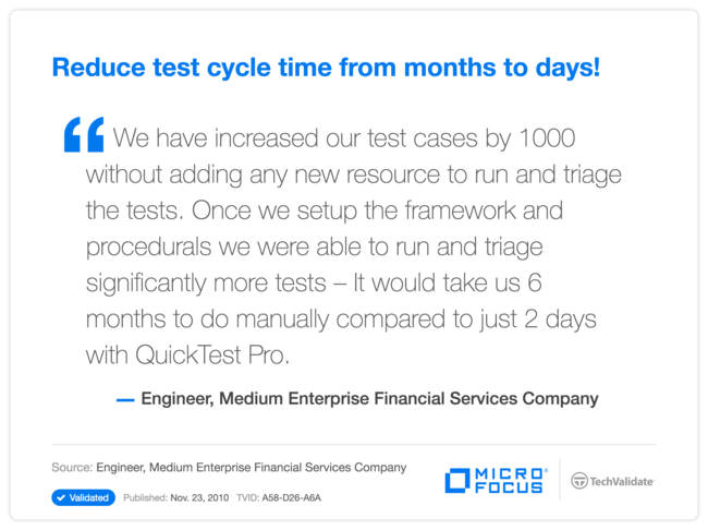 Reduce test cycle time from months to days!