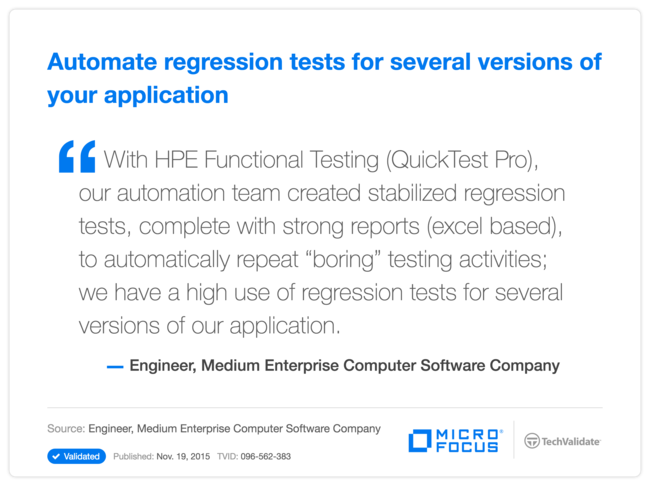 Automate regression tests for several versions of your application