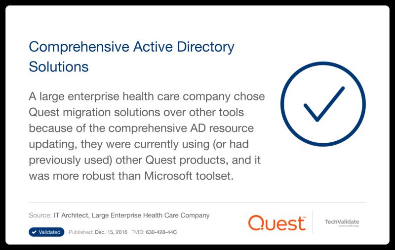 zeroimpact active directory migration consolidation quest