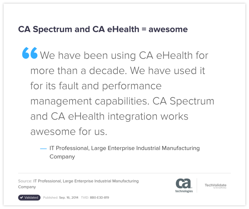 CA Spectrum and CA eHealth = awesome