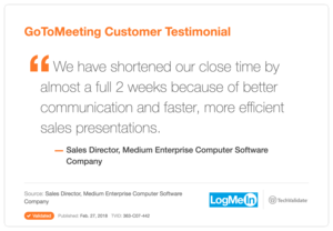How Sales Professionals Use Gotomeeting Logmein Customer