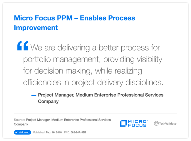 HPE PPM-Enables Process Improvement