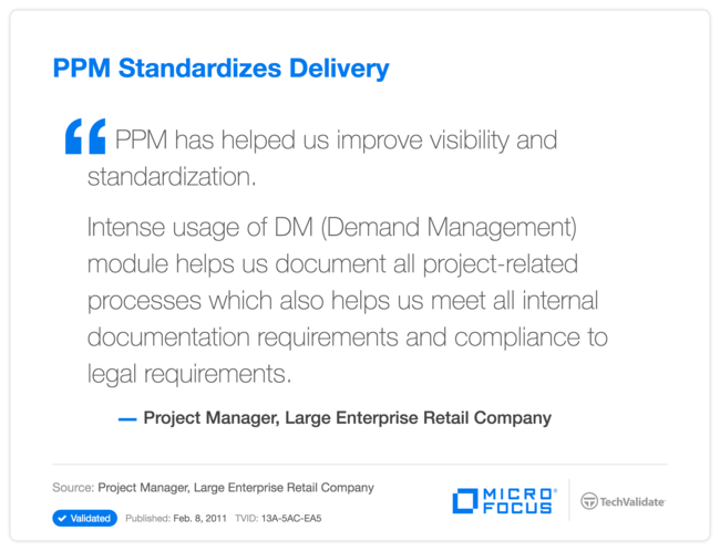 PPM Standardizes Delivery