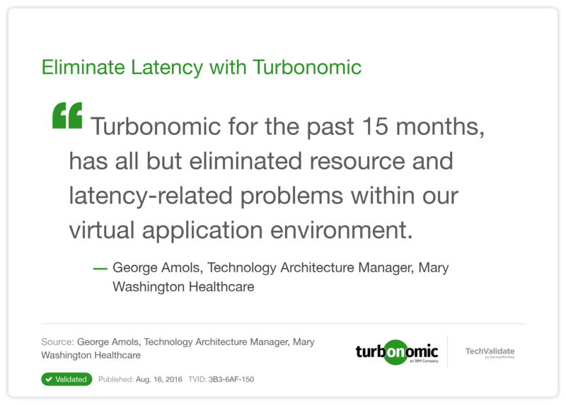Eliminate Latency with Turbonomic