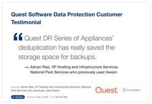 Quest Software Data Protection Customer Testimonial