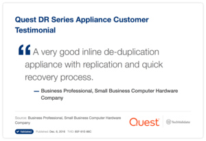 Quest DR Series Appliance Customer Testimonial