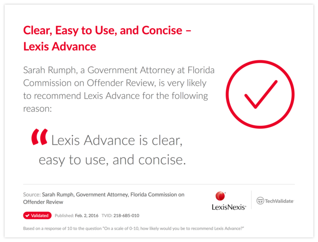Clear, Easy to Use, and Concise-Lexis Advance