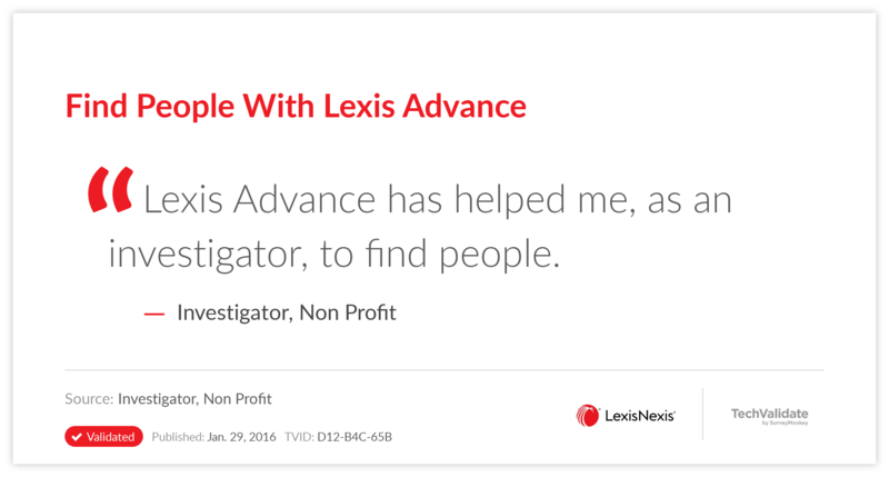 Find People With Lexis Advance