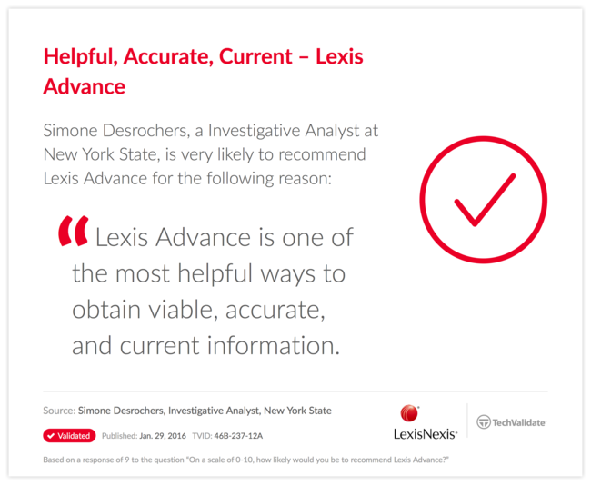 Helpful, Accurate, Current-Lexis Advance