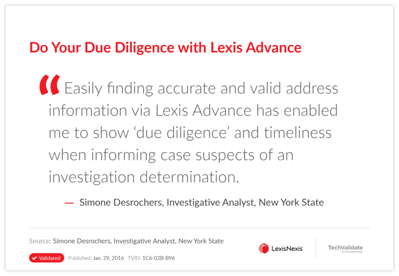 Do Your Due Diligence with Lexis Advance