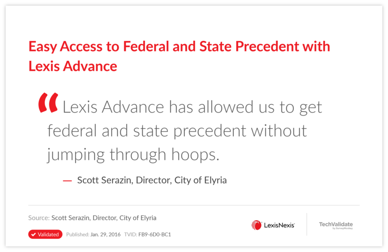 Easy Access to Federal and State Precedent with Lexis Advance