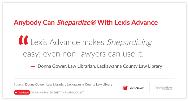 Anybody Can Shepardize With Lexis Advance