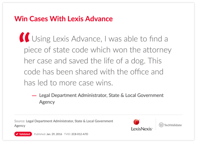 Win Cases With Lexis Advance