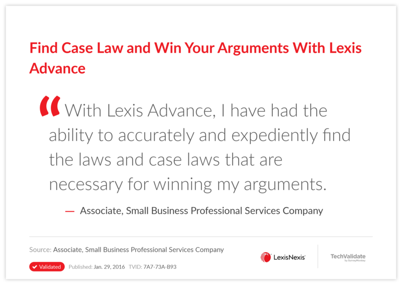 Find Case Law and Win Your Arguments With Lexis Advance