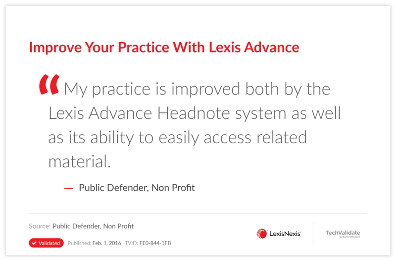 Improve Your Practice With Lexis Advance