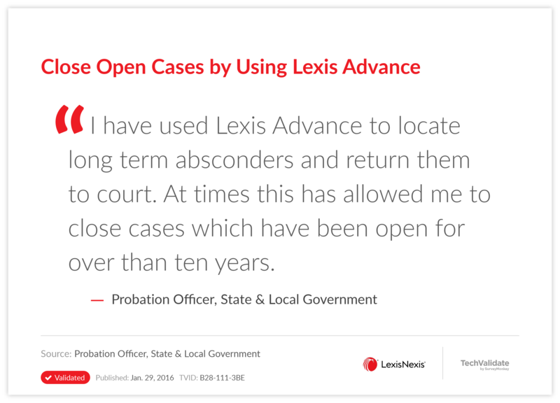Close Open Cases by Using Lexis Advance
