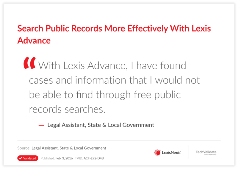 Search Public Records More Effectively With Lexis Advance