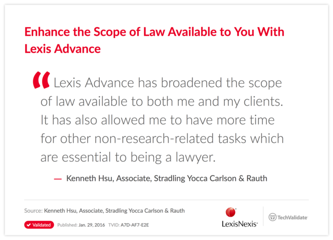 Enhance the Scope of Law Available to You With Lexis Advance