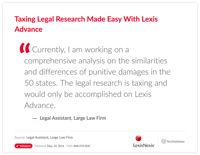 Taxing Legal Research Made Easy With Lexis Advance