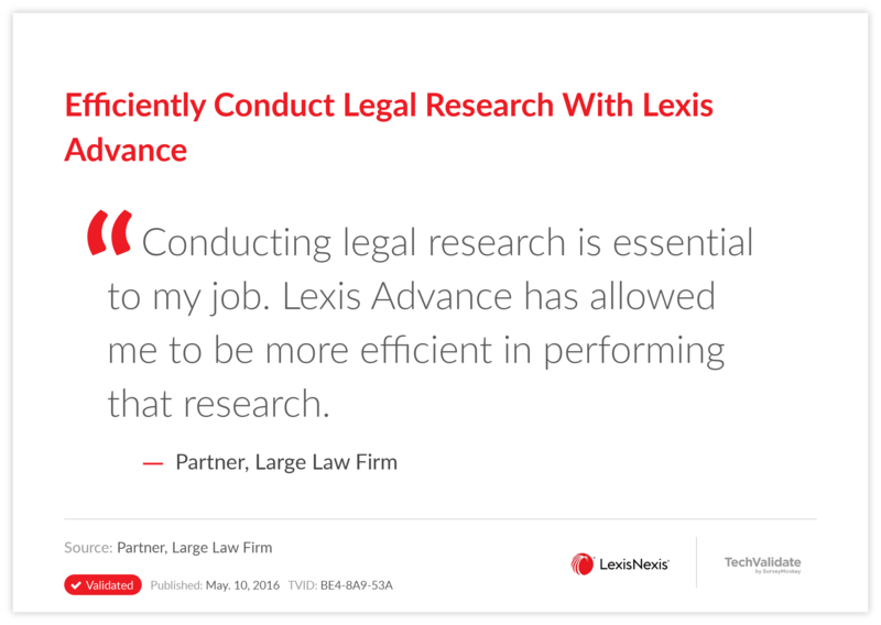 Efficiently Conduct Legal Research With Lexis Advance