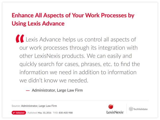 Enhance All Aspects of Your Work Processes by Using Lexis Advance
