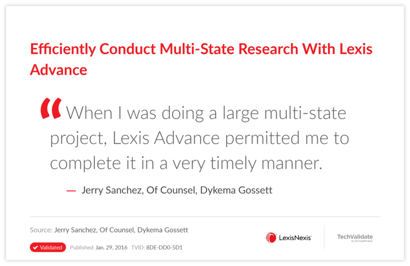 Efficiently Conduct Multi-State Research With Lexis Advance