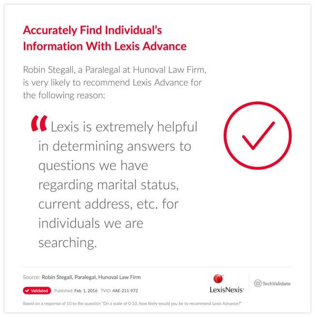 Accurately Find Individual's Information With Lexis Advance