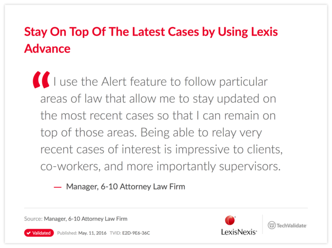 Stay On Top Of The Latest Cases by Using Lexis Advance