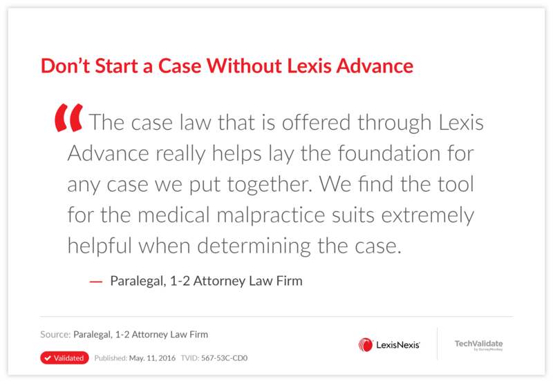 Don't Start a Case Without Lexis Advance