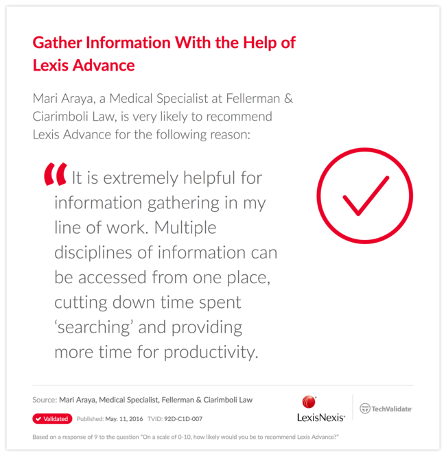 Gather Information With the Help of Lexis Advance