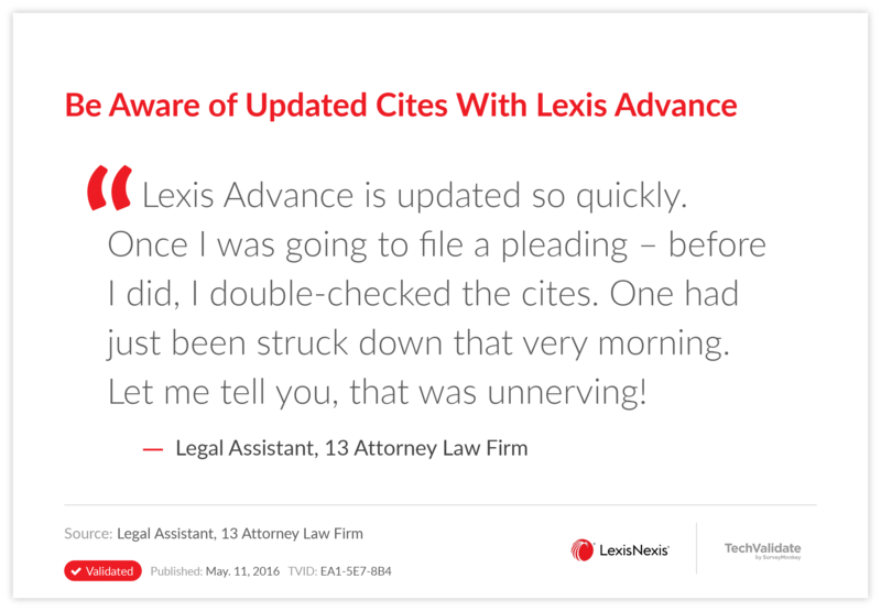 Be Aware of Updated Cites With Lexis Advance