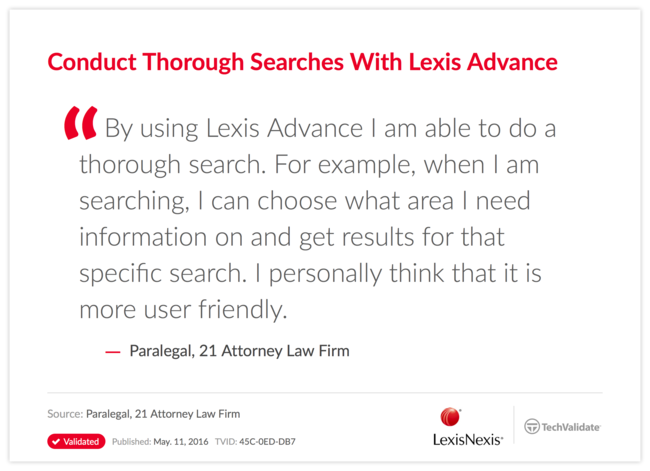 Conduct Thorough Searches With Lexis Advance