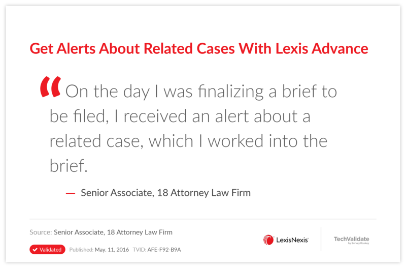 Get Alerts About Related Cases With Lexis Advance
