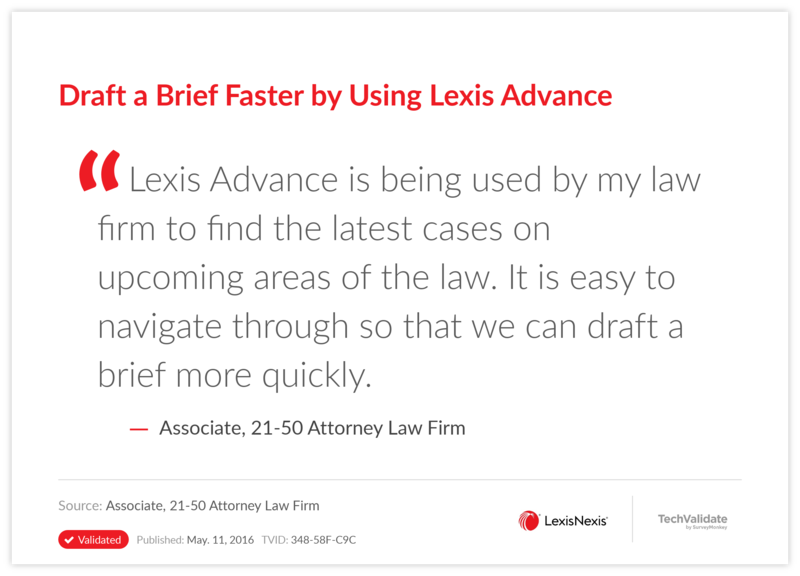 Draft a Brief Faster by Using Lexis Advance
