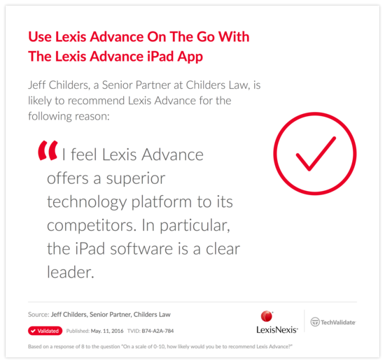 Use Lexis Advance On The Go With The Lexis Advance iPad App