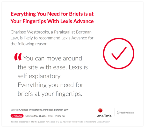 Everything You Need for Briefs is at Your Fingertips With Lexis Advance