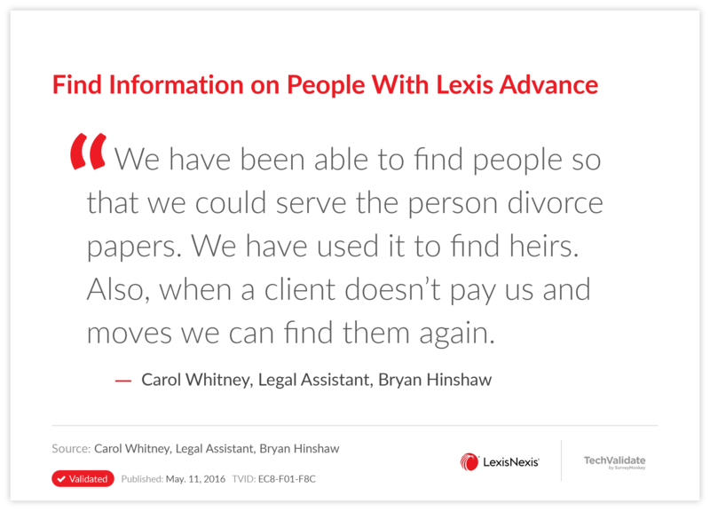 Find Information on People With Lexis Advance