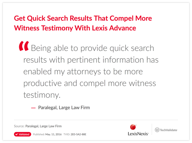 Get Quick Search Results That Compel More Witness Testimony With Lexis Advance