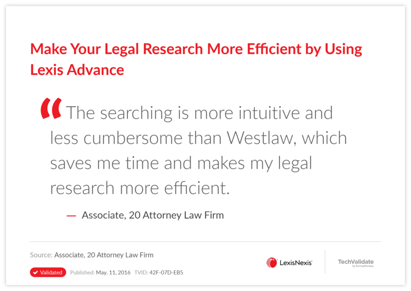 Make Your Legal Research More Efficient by Using Lexis Advance