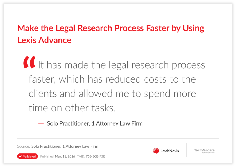 Make the Legal Research Process Faster by Using Lexis Advance