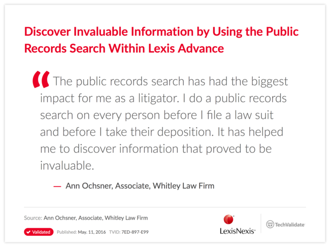 Discover Invaluable Information by Using the Public Records Search Within Lexis Advance