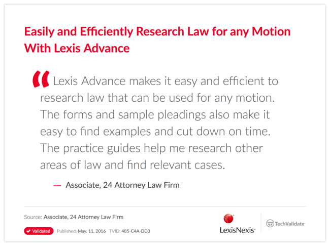 Easily and Efficiently Research Law for any Motion With Lexis Advance