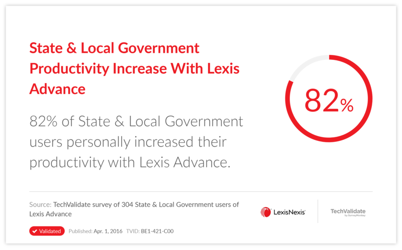State & Local Government Productivity Increase With Lexis Advance