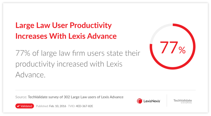 Large Law User Productivity Increases With Lexis Advance