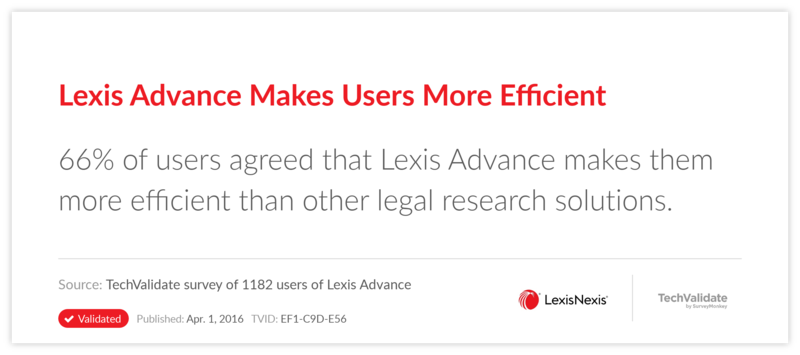 Lexis Advance Makes Users More Efficient