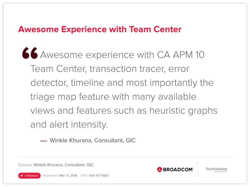 Awesome Experience with Team Center
