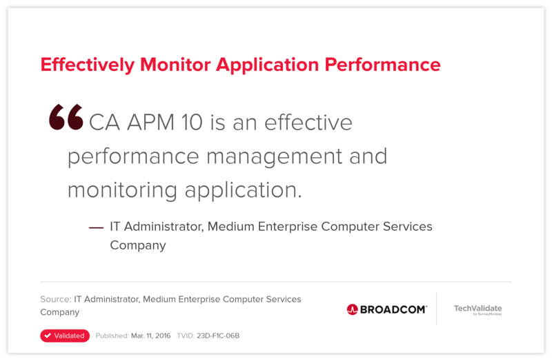 Effectively Monitor Application Performance