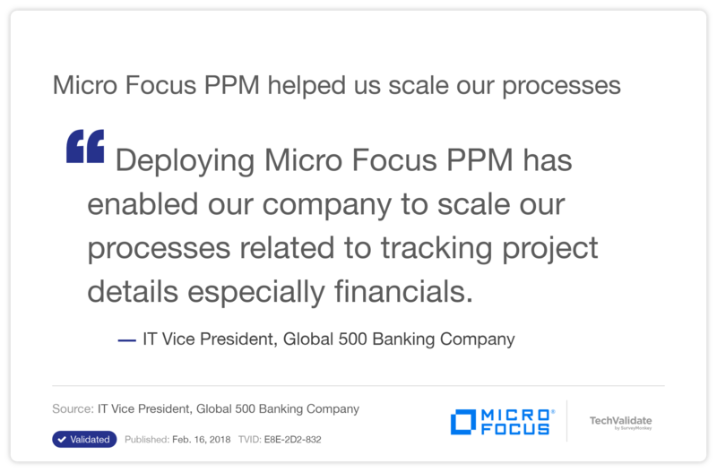 HPE PPM helped us scale our processes